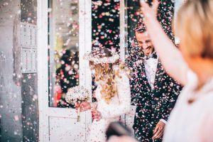 celebration at a wedding